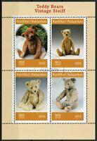 Madagascar 2019 CTO Vintage Steiff Teddy Bears 4v M/S Stamps