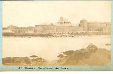 France, Saint-Malo, les bains de mer  vintage albumen print, Tirage albuminé