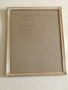 """Lovely Vintage Gilt Metal Photo Frame - Free Standing - photo size 10"""" x 8"""""""