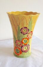 Vintage Art Deco Carlton Ware Australian Design Anemone Flowers Vase