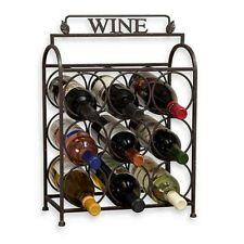 Wine Rack 9 bottle Freestanding Metal Holder Storage Display Stand