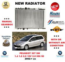Para Peugeot 307 Sw 1.4 1.6 2.0 16V 2.0 HDI 90 2002> Radiador Calidad OE