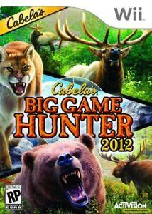 Cabela's Big Game Hunter 2012 - Nintendo  Wii Game