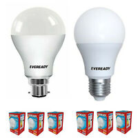 Eveready LED GLS Bulbs B22 / E27 Daylight 6000k Warm White 3000k Opal Lamp Light