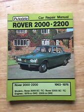 AutoData Rover 2000 2200 SC TC series 1963 - 1976 Car Service Workshop Manual VG