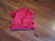 LULULEMON RUN WITH ME NECK WARMER DEEPEST CRANBERRY BOOM JUICE STRIPES O/S