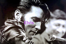 ELVIS PRESLEY IN BLACK LEATHER SCOTT MOORE TV SPECIAL 1968 PHOTO CANDID