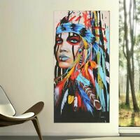 Abstract Indian Woman Canvas Oil Painting Print Picture Home Wall Hang Art Decor