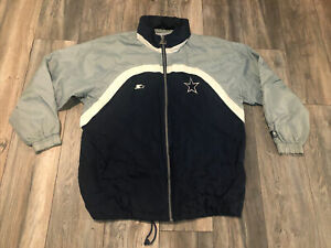 Dallas Cowboys Starter Proline Jacket Windbreaker Men's Large Nice