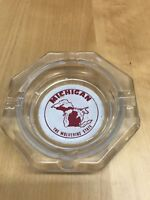 Vintage, Michigan Glass Ashtray Stuckey's