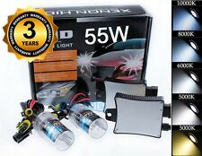 9012 6000K 6K Diamomd White 55W HID Conversion Kit Headlight Replacement Bulbs