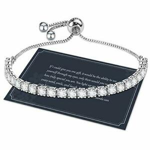 Cadeaux fete des Mere Bracelet Femme Argent en 5A Zircone Bracelet Tennis S925 1
