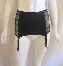 Cyber Goth Punk Industrial LIP SERVICE CULT Black Fishnet Garter Skirt Medium