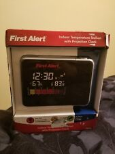 First Alert Indoor Temperature Station with Projection Clock
