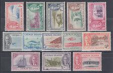 Cayman Islands Sc 122-134  MLH. 1950 KGVI Pictorials, complete set, VF