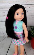"8-9"" Custom Doll Wig fits Dolfie, Luts, Wellie Wisher ""Lil' Raven"" bn1"