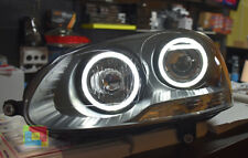 FANALI VW GOLF 5 2003-2008 FARI ANTERIORI ANGEL EYES LED 6000K .-