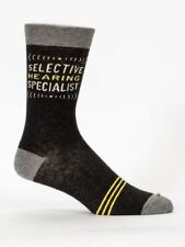 Selective Hearing Specialist Men's Crew Socks Black funny blueq one size 7-12