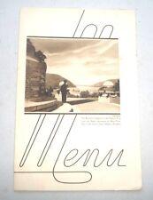 VINTAGE MENU NEW YORK CENTRAL DINING SERVICE MANHATTAN BRONX  1939