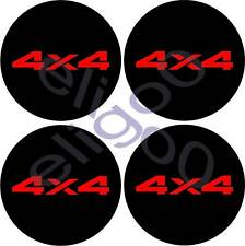 4 STICKERS 4X4 DECALS FOR CENTER CAP WHEELS RIM LOGO RD