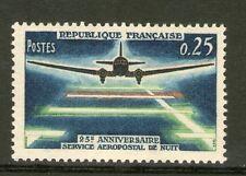 TIMBRE 1418 NEUF XX - 25 EME ANNIVERSAIRE DU SERVICE AEROPOSTAL DE NUIT