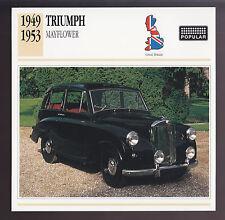 1949-1953 Triumph Mayflower Car Photo Spec Sheet Info ATLAS CARD 1950 1951 1952