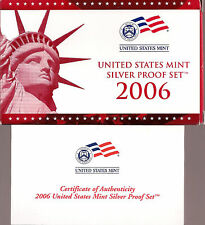 2006 SILVER PROOF SET-DCAM-Complete Set With Box & Certificate of Authenticity