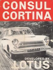 Ford Cortina Lotus Mk1 1963-64 UK Market Launch Leaflet Sales Brochure