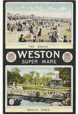 Early Heraldic Dual View, WESTON SUPER MARE, Somerset