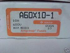 FUSE,GOULD SHAWMUT,10A,600V, TYPE 1,AMPTRAP, A60X10-1