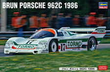 Hasegawa 20455 1/24 Scale Group C Car Model Kit Brun Porsche 962C 1986 WSPC