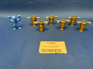"""Anderson Metals 6D911 Drain Cock, 200 psi, 1-5/16""""H x 3/8"""" Pipe Size LOT OF 6"""
