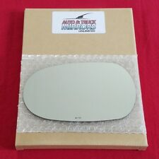 Mirror Glass + Adhesive For 02-08 Jaguar X-Type Driver Side Replacement