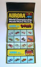 Vintage Slot Car Racing AURORA AFX Fold-Out Catalog 1978 G+Plus Magna Traction