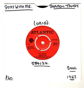 """SHARON TANDY.STAY WITH ME / HOLD ON.""""RARE"""" UK ORIG MOD/SOUL/FREAKBEAT 1967 7"""".G+"""
