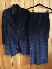 Next Dark Blue Shimmer Trouser Suit, Size 6 Petite, Brand New