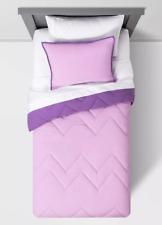 PURPLE Reversible Comforter Set Pillowfort Full / Queen