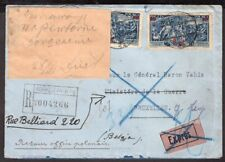 2381 POLAND TO BELGIUM RETURNED REGISTERED EXPRESS COVER 1936 WARSZAWA