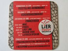 Beer COASTER ~ LIER Feest: Whiz, Fixkes, Lady Linn, Zimmerrock; Palm Brewery BMW