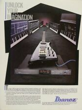 retro magazine advert 1986 IBANEZ IMC midi guitar