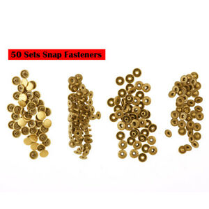 200Pcs Metal Poppers Snap Fastener Press Stud Cap Sewing Clothes Button Kit 10mm