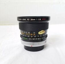Canon 20mm f2.8 FD Mount S.S.C. Lens Made In Japan RARE