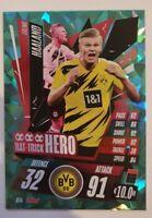 2020/21 Match Attax UEFA Champions League - Erling Haaland Hattrick Hero Dortmun