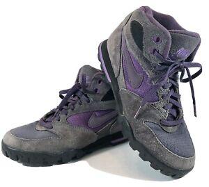 Vintage Nike Caldera Ankle Boots Womens US 7.5 Gray Purple (930709-IB) EUC