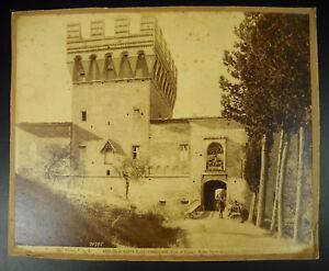 Photography 19th Italy Asciano Abbazia Di Riding Oliveto Maggiore Alinari c1880