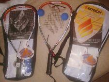 2 Ektelon Racquetball Rackets * 2 Carry Case, 5 Balls, 2 Goggles,2 Grip Straps