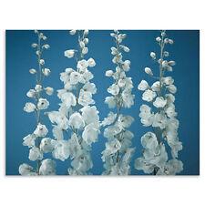 Blue Delphiniums Triptych Canvas Flowers Picture - Set of 3 H90, W120, D2.5cm