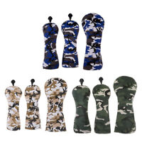 3x Universal Golf Wood Driver Headcover Protective Head Sleeve Set & No. Tag