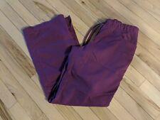Women's Grey's Anatomy Scrub Pants Size Xs Barco Wine Red