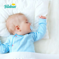 """Baby Toddler Pillow with 100% Cotton Pillowcase Infant Thin Neck Pillow 14""""x19"""""""